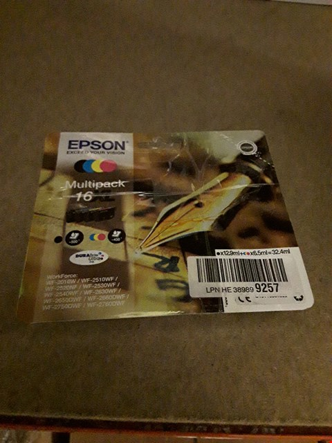 Lot 2296 EPSON MULTI PACK 16XL CARTRIDGE
