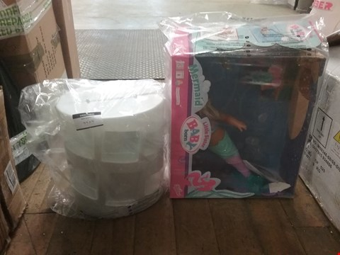 Lot 2247 LOT OF 2 ITEMS TO INCLUDE POOPSIE SURPRISE UNICORN AND BABY BORN MY LITTLE SISTER MERMAID  RRP £100