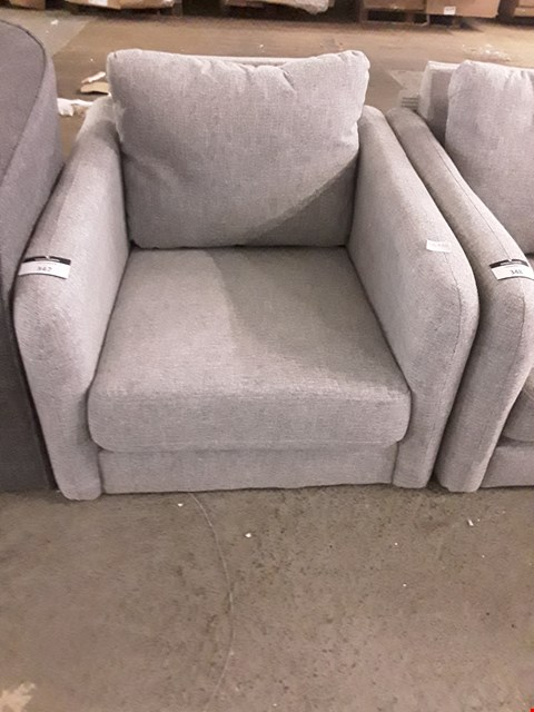 Lot 160 DESIGNER GREY FABRIC OCCASIONAL CHAIR