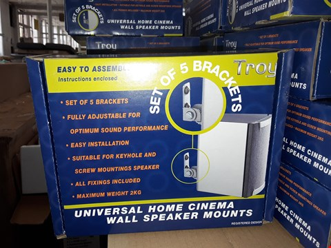 Lot 17011 LOT OF APPROXIMATELY 5 TROY UNIVERSAL HOME CINEMA WALL SPEAKER MOUNT