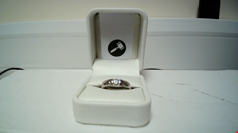 Lot 7 18CT WHITE GOLD RING SEMI TENSION SET WITH A DIAMOND RRP £1625.00