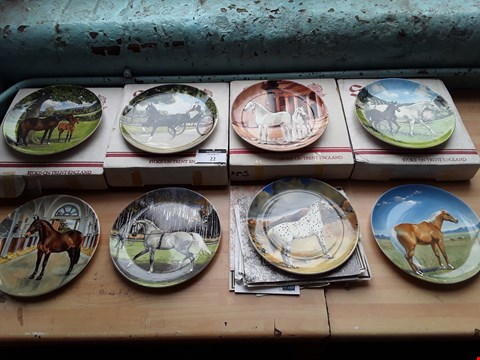Lot 22 SET OF EIGHT SPODE COLLECTORS PLATES, NOBLE HORSE COLLECTION 1990, BY SUSIE WHITCOMBE,