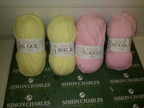 Lot 9331 LOT OF SIRDAR SNUGGLY 4 PLY NYLON/ACRYLIC YARN APPROXIMATELY 226 METRES EACH - YELLOW AND PINK