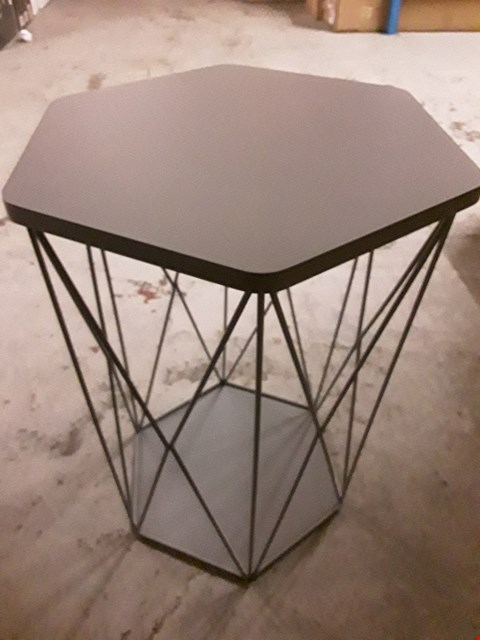 Lot 2466 BOXED BRAND NEW WIRE STORAGE BASKET TABLE RRP £42.99