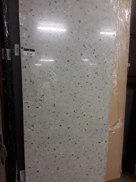 Lot 3118 3M SQUARE EDGED LIGHT MARBLE EFFECT WORKTOP