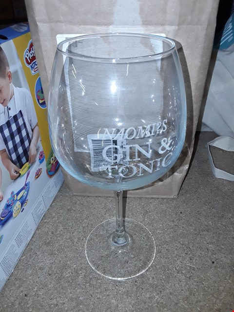 Lot 1065 A LARGE PERSONALISED GIN GLASS