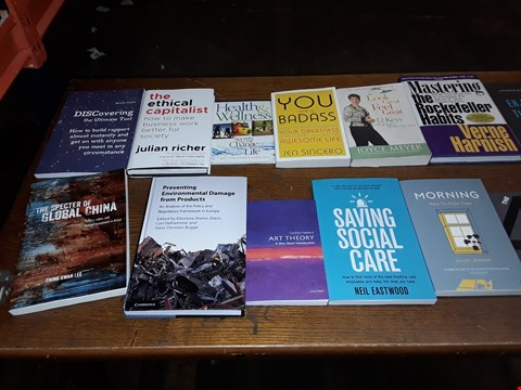 Lot 169 LOT OF APPROXIMATELY 16 ASSORTED ITEMS TO INCLUDE SAVING SOCIAL CARE, MORNING HOW TO MAKE TIME AAND HEALTH & WELLNESS ECT