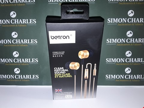 Lot 46 BOXED SET OF BETRON STEREO IN-EAR HEADPHONES - B650S