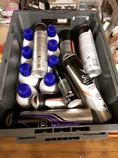 Lot 2203 4 BOXES OF ASSORTED AEROSOLS TO INCLUDE SURE MEN MOTION SENSE ANTI-PERSPIRANT, LOREAL HAIR TOUCH UP AND BRUT ANTI-PERSPIRANT ECT (BOX NOT INCLUDED)