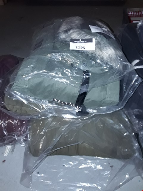 Lot 2195 LOT OF APPROXIMATELY 3 ASSORTED BRAND NEW COATS  RRP £90