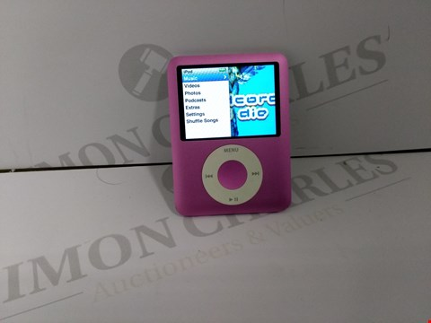 Lot 18327 UNBOXED APPLE IPOD NANO 8GB IN PINK