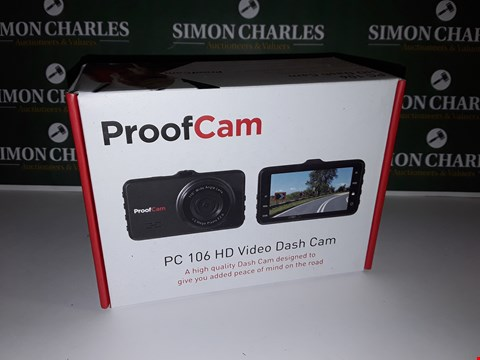 Lot 21 BOXED PROOF CAM PC-106 HD VIDEO DASH CAM