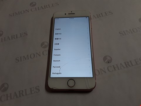 Lot 8052 APPLE IPHONE 7 128GB IN ROSE GOLD - A1778