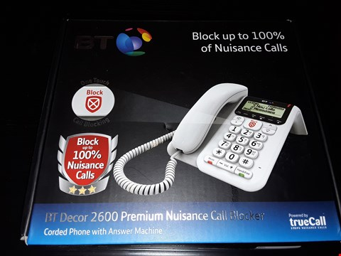 Lot 90 BOXED BT DECOR 2600 PREMIUM NUISANCE CALL BLOCKER