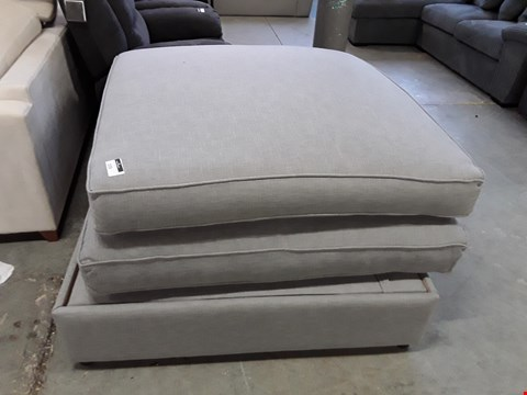 Lot 18 QUALITY HAND MADE GREY FABRIC ABINGTON OTTOMAN  RRP £1009.00