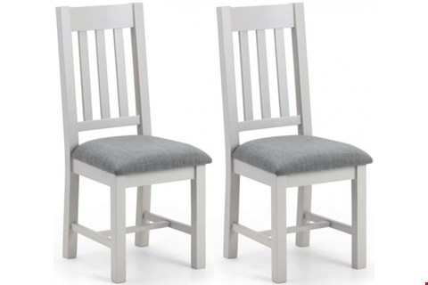 Lot 2053 BOXED GRADE 1 PAIR OF RICHMOND DINING CHAIRS - ELEPHANT GREY