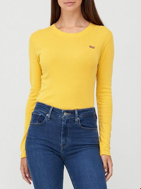 Lot 3503 BRAND NEW LEVI'S LONG SLEEVE BABY TEE - YELLOW SIZE S