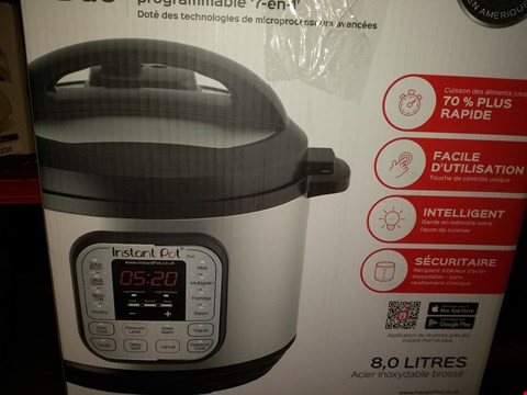 Lot 2021 INSTANT POT 7 IN 1 PRESSURE COOKER