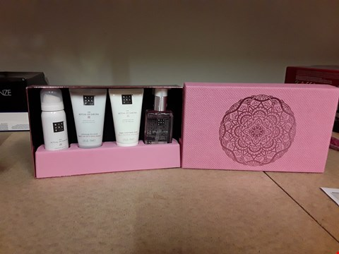 Lot 2029 RITUALS THE RITUAL OF SAKURA GIFT SET CONTAINS SOFTENING RICE SCRUB, MAGICAL TOUCH BODY CREAM, BLOSSOMING HAND WASH AND ZENSATIONAL FOAMING SHOWER GEL