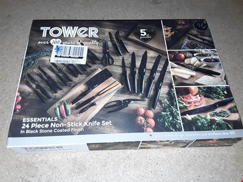 Lot 1008 TOWER 24 PC NON STICK KNIFE SET