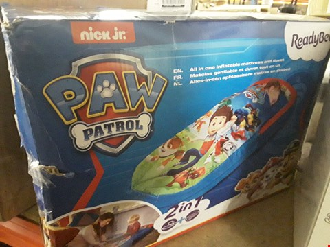 Lot 8466 PAW PATROL MY FIRST READY BED RRP £44.99