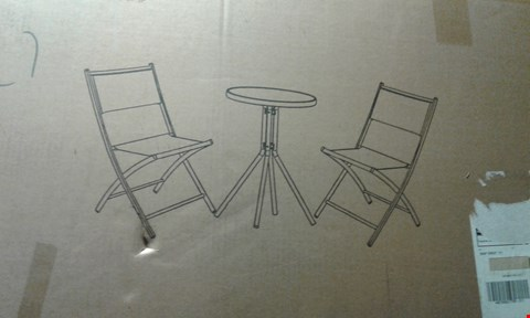 Lot 7927 GRADE 1 THE ESSENTIAL 3 PIECE BISTRO SET  RRP £42.99