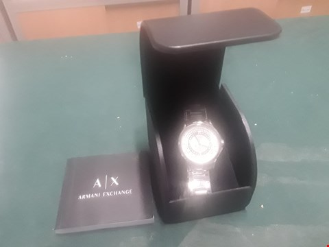 Lot 1006 BOXED ARMANI EXCHANGE SILVER DIAL STAINLESS STEEL WATCH  RRP £219