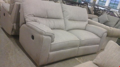 Lot 1246 DESIGNER GREY FABRIC RECLINING 2 SEATER SOFA