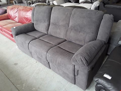Lot 46 DESIGNER CHARCOAL FABRIC 3 SEATER SOFA