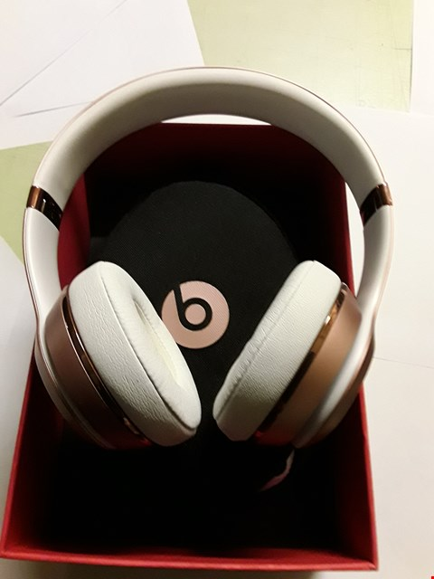 Lot 5016 BEATS SOLO 3 WIRELESS HEADPHONES BY DR DRE ROSE GOLD
