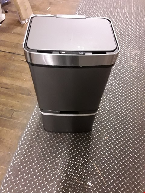 Lot 3282 BRAND NEW MORPHY RICHARDS PRO 75L SENSOR BIN WITH 2 RECYCLE BINS - TITANIUM COLOUR RRP £200.00