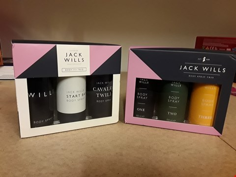 Lot 2022 LOT OF 2 JACK WILLS BODY SPRAY TRIO SETS
