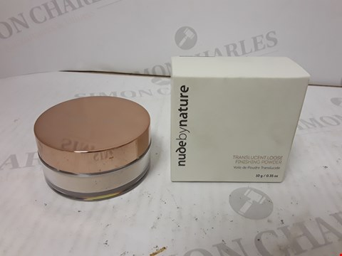 Lot 10731 BOXED NUDE BY NATURE TRANSLUCENT LOOSE FINISHING POWDER