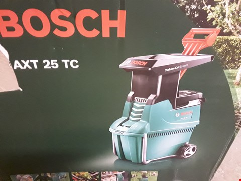 Lot 22 BOXED BOSCH AXT25TC ELECTRIC GARDEN SHREDDER RRP £459.99