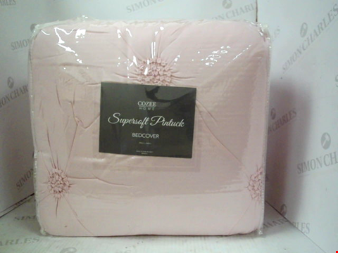 Lot 1222 COZEE HOME SUPERSOFT PINTUCK BEDCOVER 250 * 260CM