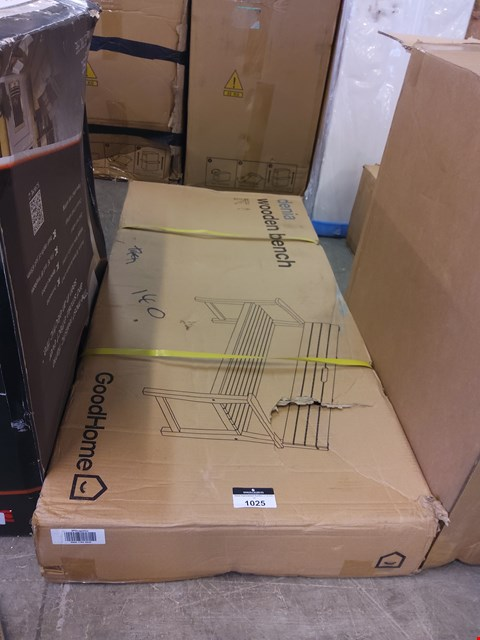 Lot 1025 BOXED DENIA WOODEN BENCH  RRP £97.00