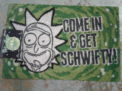 Lot 722 BRAND NEW RICK AND MORTY DOOR MAT