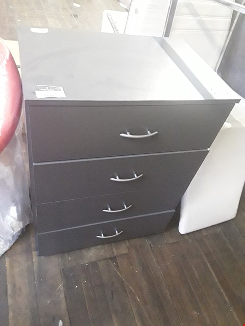 Lot 2111 DESIGNER CHARCOAL FINISH 4 DRAWER CHEST