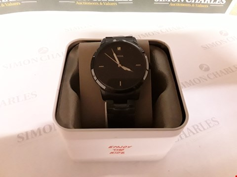 Lot 97 FOSSIL BLACK AND SILVER DETAIL DIAL BLACK IP STAINLESS STEEL BRACELET MENS WATCH RRP £185.00