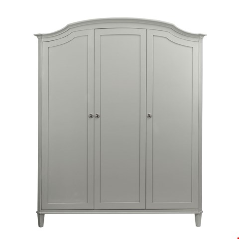 Lot 3046 CONTEMPORARY DESIGNER BOXED ABELLA 3 DOOR WARDROBE IN A MIST FINISH (4 BOXES) RRP £1538.00