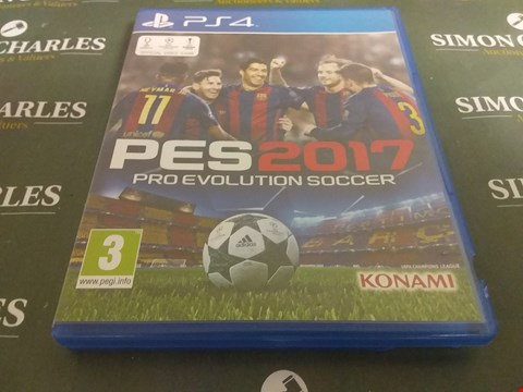 Lot 1054 PES 2017 PLAYSTATION 4 GAME