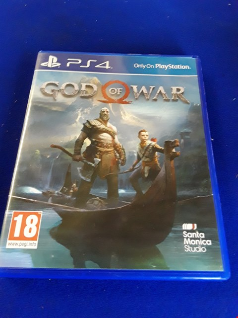 Lot 7628 GOD OF WAR PLAYSTATION 4 GAME