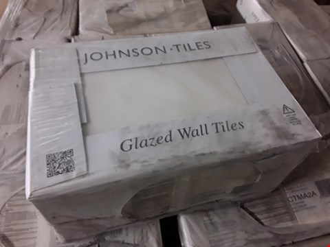 Lot 3531 PALLET OF 64 BOXES OF BRAND NEW MATT WHITE-BEIGE TILES 300X200