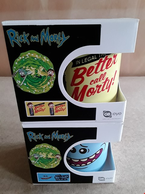 Lot 27 2 BRAND NEW BOXED RICK AND MORTY MUGS