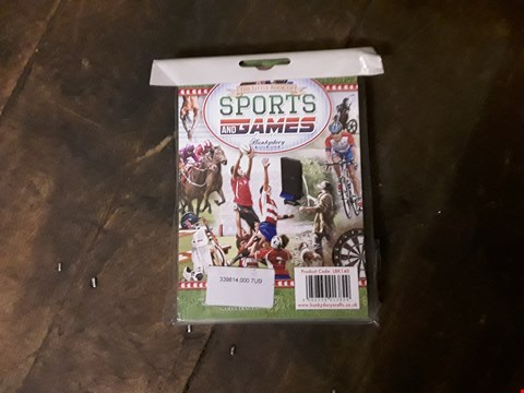 Lot 759 BOX OF APPROXIMATELY 45 SPORTS GAMES craft paper