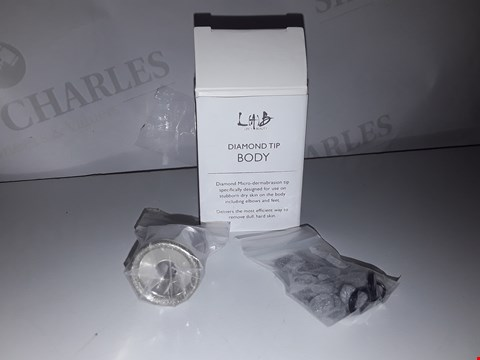 Lot 883 ×2 DIAMOND TIP BODY SPECIFICALLY DESIGNED FOR USE ON STUBBORN DRY SKIN ON THE BODY INCLUDING ELBOWS AND FEET