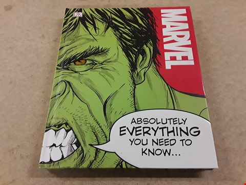 "Lot 395 BRAND NEW MARVEL ""EVERYTHING YOU NEED TO KNOW"" BOOK"