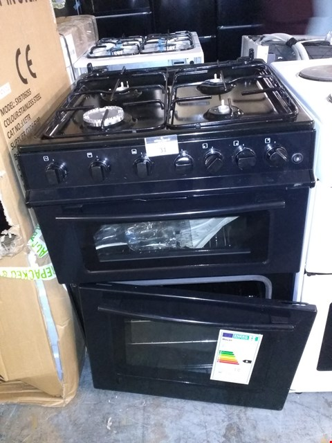 Lot 31 SWAN SX2061B 60CM WIDE FREESTANDING GAS DOUBLE OVEN COOKER - BLACK