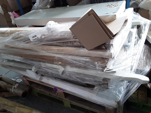 Lot 2476 PALLET OF ASSORTED BED PARTS, HEADBOARDS, FRAMES ETC