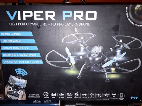 Lot 459 BOXED VIPER PRO DRONE WITH HD CAMERA